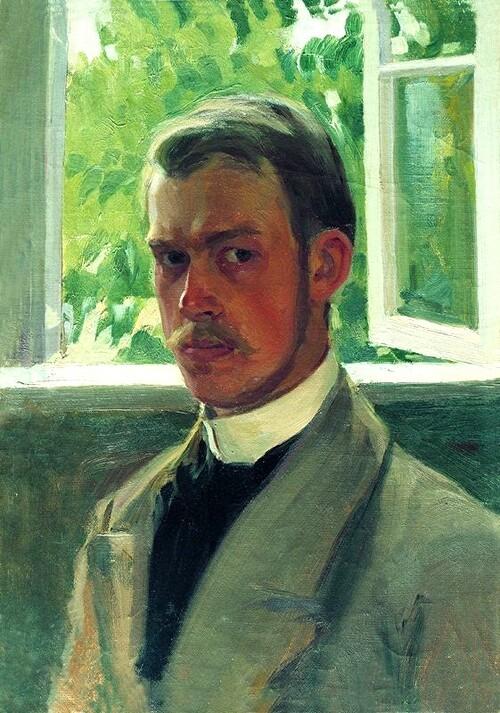 Koustodiev 1 / A 9 ans il visitait sa 1ère expo de peintures
