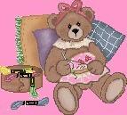 BROD ourse dessin DMC fils