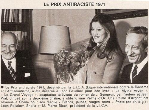 Janvier 1972 : Prix Anti-raciste 1971