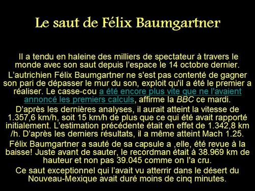PPS MES CREATIONS Le saut de Félix Baumgartner