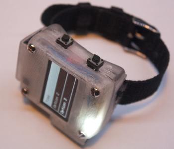 la montre oswatch, dont le modèle est téléchargeable et imprimable en 3d.
