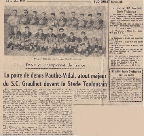 23 OCTOBRE 1955 - INAUGURATION DU STADE