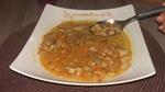Bouillon épicé de poulet aux crozets