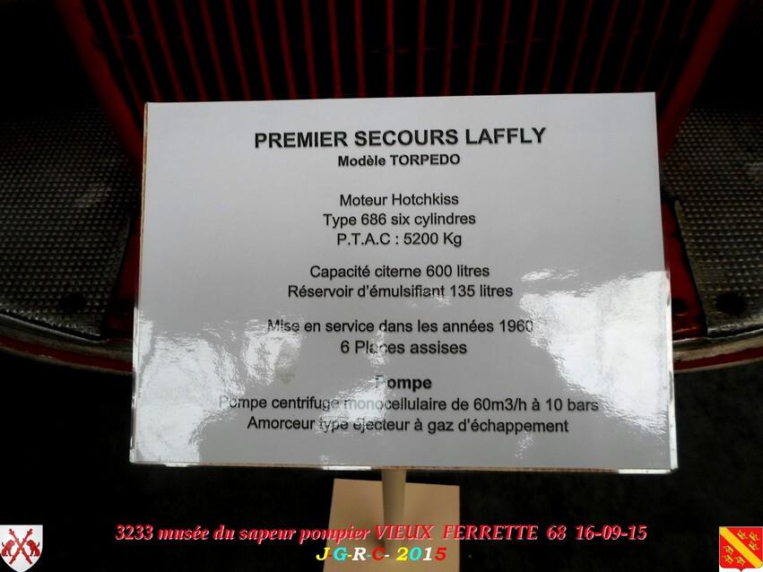 Musée du Sapeur Pompier d'ALSACE  1/4  19/26   VIEUX FERRETTE  68   D  11-06-2016