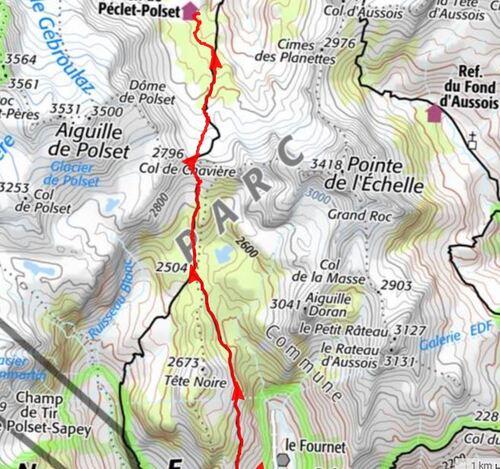 Vanoise 2017 - étape 2  L'Orgère > Peclet Polset