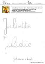 Juliette va à l'école