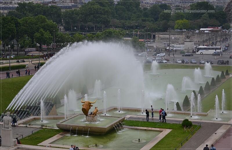 Jardins du Trocadéro : La fontaine de Varsovie