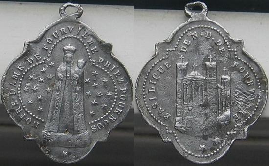 MEDAILLE Notre Dame de Fourvière
