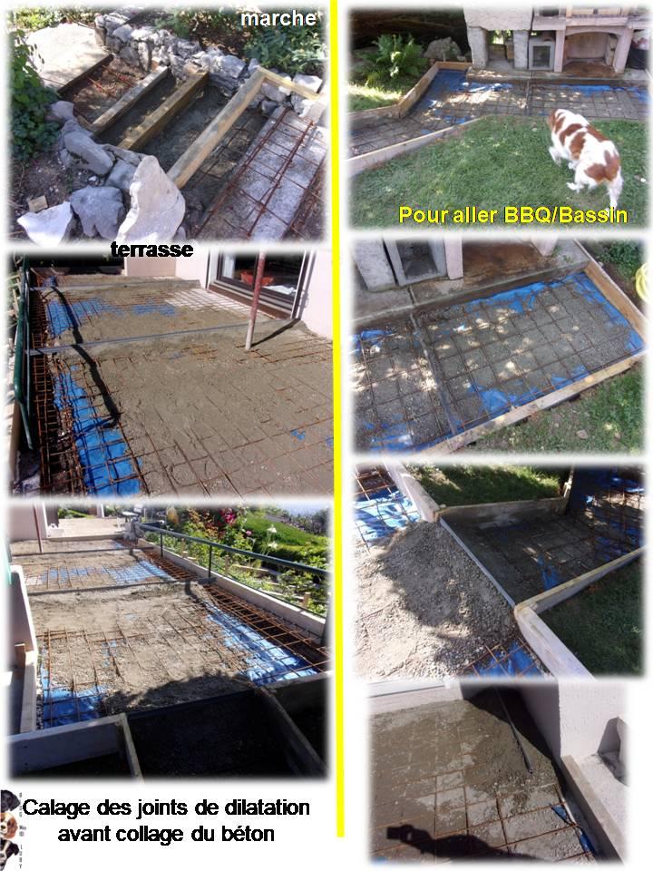 Travaux de notre terrasse