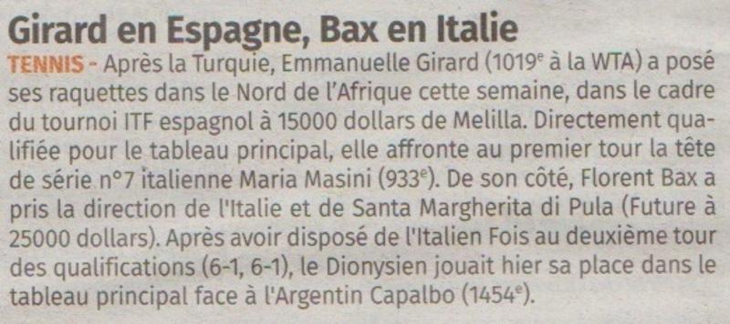 Girard en Espagne, Bax en Italie