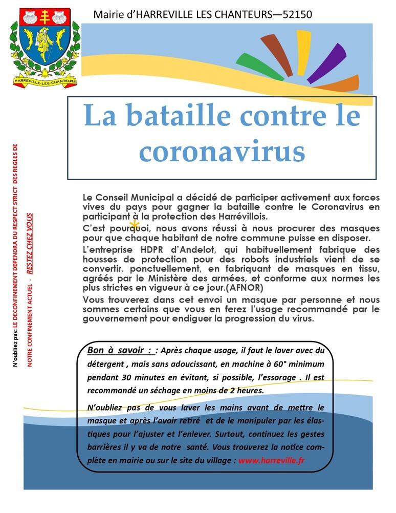 LA BATAILLE CONTRE LE COVID -19