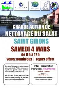04.03.17 - Action de nettoyage des berges du Salat, de Saint-Girons à Saint-Lizier