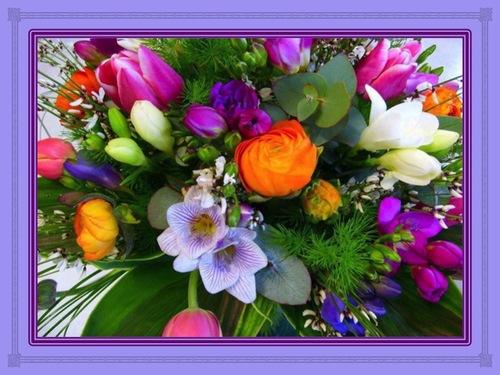 Hymne à Dieu avec des fleurs