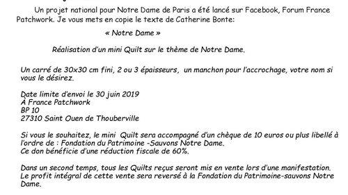 Projet Notre Dame