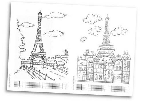 Coloriage Intelligent Cp.Paris Et La Tour Eiffel Mitsouko Au Cp