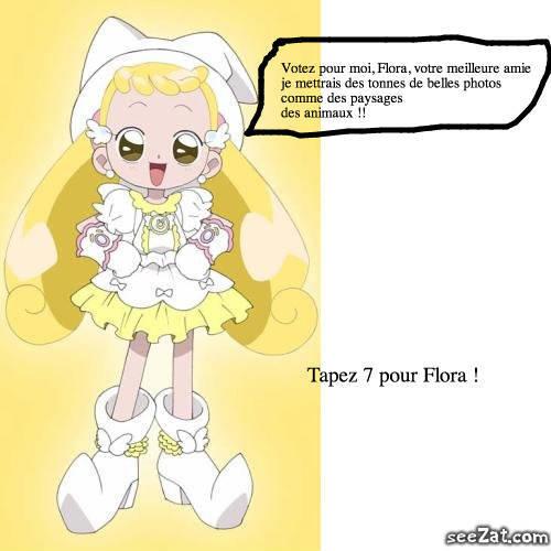 Tapez 7 pour Flora !