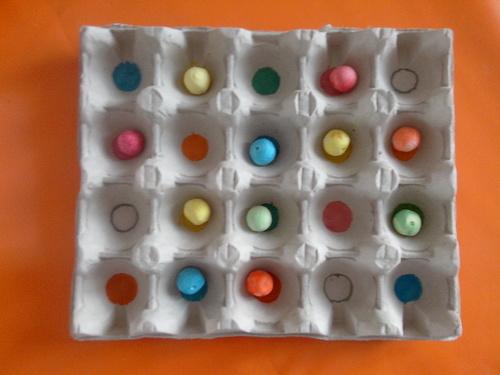 Les boules de couleurs