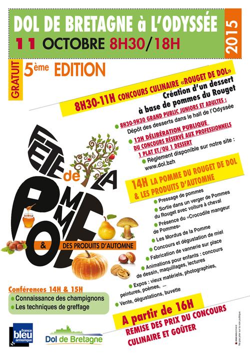 Fête de la pomme à Dol de Bretagne, dimanche 11 octobre
