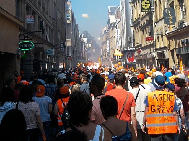 CFDT Manifestation Metz octobre 2010