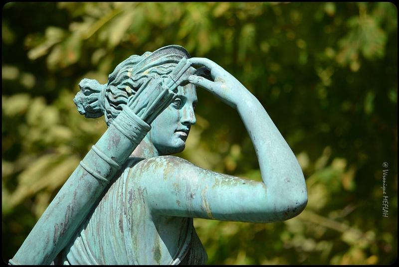 Parc du Château de Rambouillet : Artémis à la biche