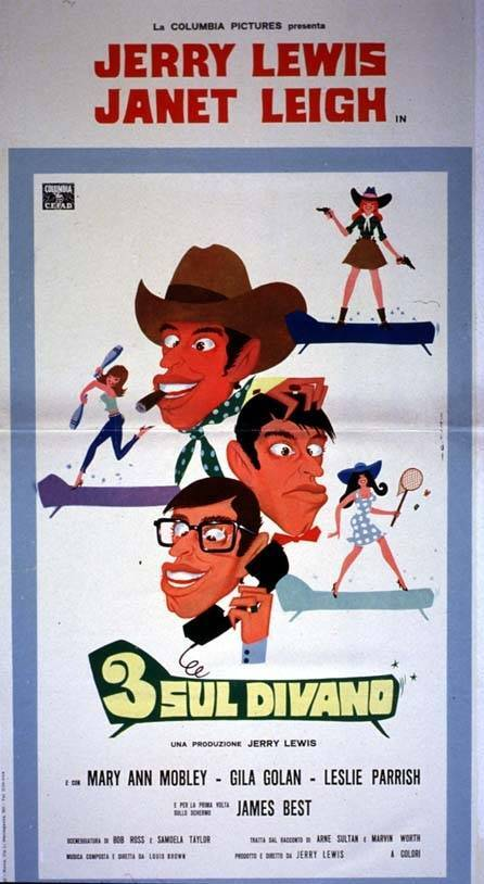 3 SUR UN SOFA (Three on a couch) -JERRY LEWIS BOX OFFICE 1966