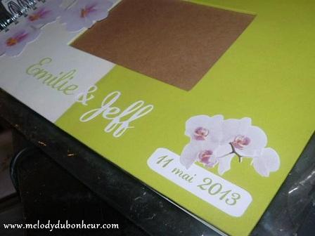 Livre d'or orchidée