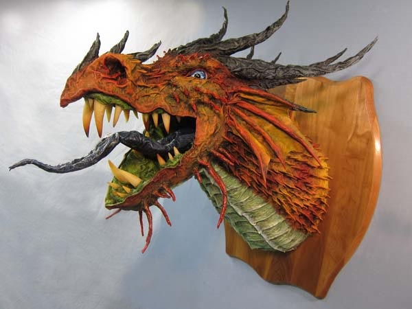 paper-mache-dragon-trophy-red