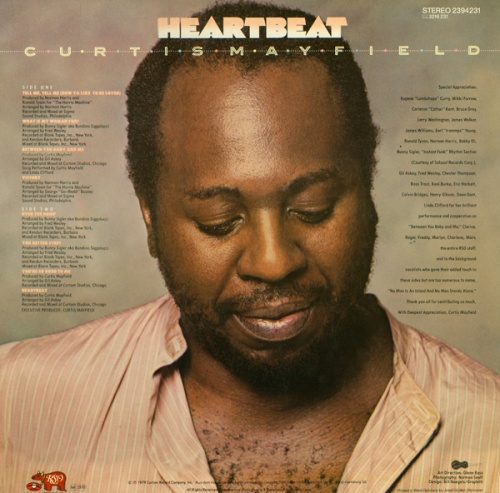 "1979 : Album "" Heartbeat "" Curtom / RSO Records RS-1-3053 [ US ]"