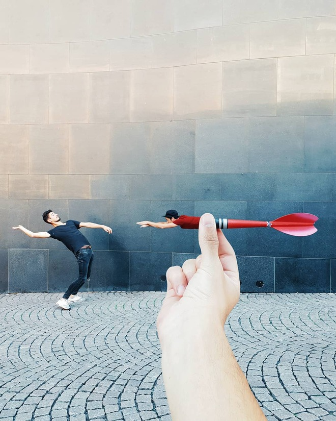 forced perspective photography dart