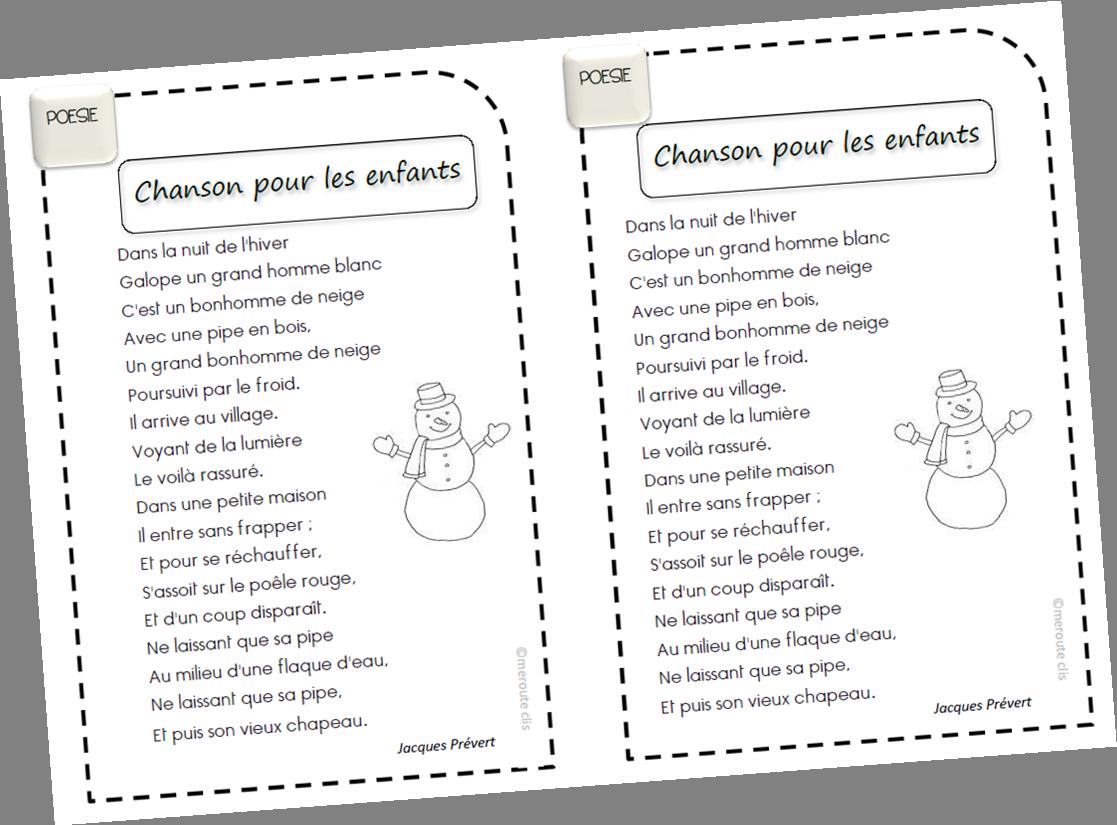 Poésie Sur Noël Lhiver Le Nouvel An Cycle 2 Meroute