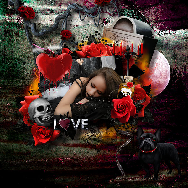 BLACK LOVE by Kitty Scrap