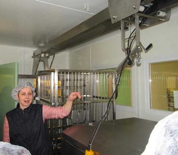 Inauguration de la nouvelle fromagerie des Marronniers à Origny sur Seine