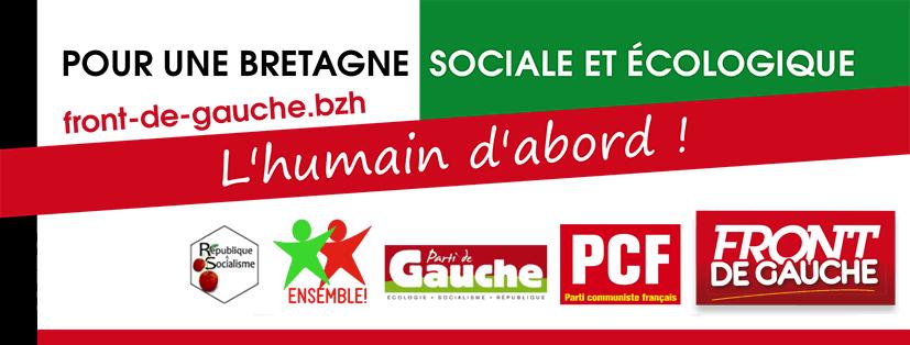 Régionales: Distribution de tracts du front de gauche à Marché de Morlaix le samedi 31 octobre