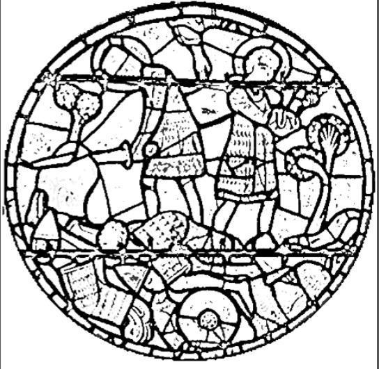 Carte d 39 identit du vitrail de charlemagne arts visuels laeti7331 - Vitraux a colorier ...