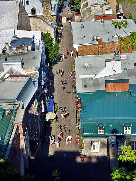 Québec vue sur quartier Petit Champlain b