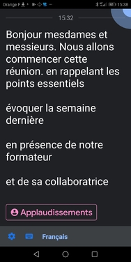 Live Transcribe (Android)  : mise à jour