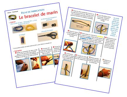 Fabrication d'un bracelet de marin