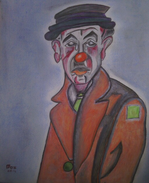 Le Clown triste. (Aquarelle et Pastel)