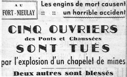 FORT NIEULAY Août 1946 : un dépôt de mines oublié fait cinq morts