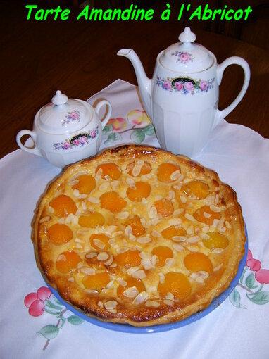 Tarte amandine à l'abricot (au sirop)