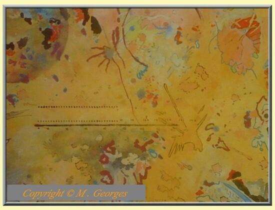 Peinture de M. Georges Titre : Les socialistes regardant le monde à travers une passoire .
