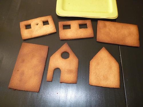 murs de la maison en pain d'épices