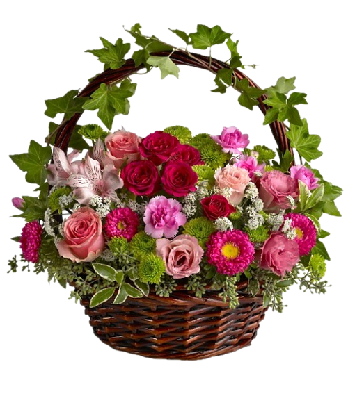 crbeille de fleurs