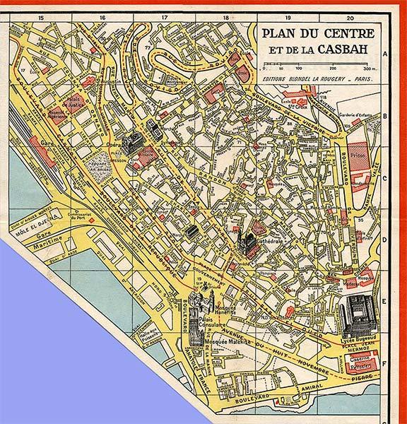 Plan Centre d'Alger & Casbah