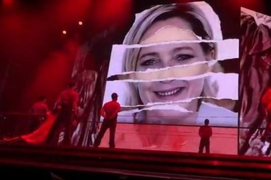 Madonna - MDNA Tour - Marine Le Pen Controversy