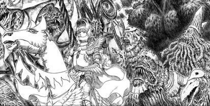 Planche de Berserk, par Kentaro Miura