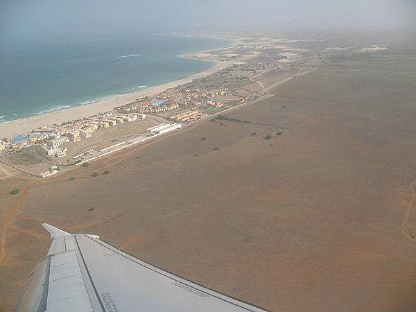 vol à l'aller à Boa Vista, la piste est en vue !
