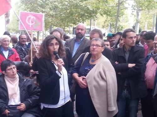 Odile Maurin, Céline Boussié et Bernadette qui avait déjà lancé l'alerte sur Moussaron