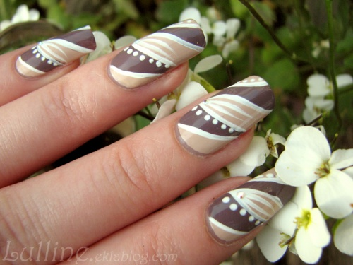 Nail Art Mocha Latte Below Deck