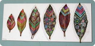 Peinture sur feuille aux feutres Posca